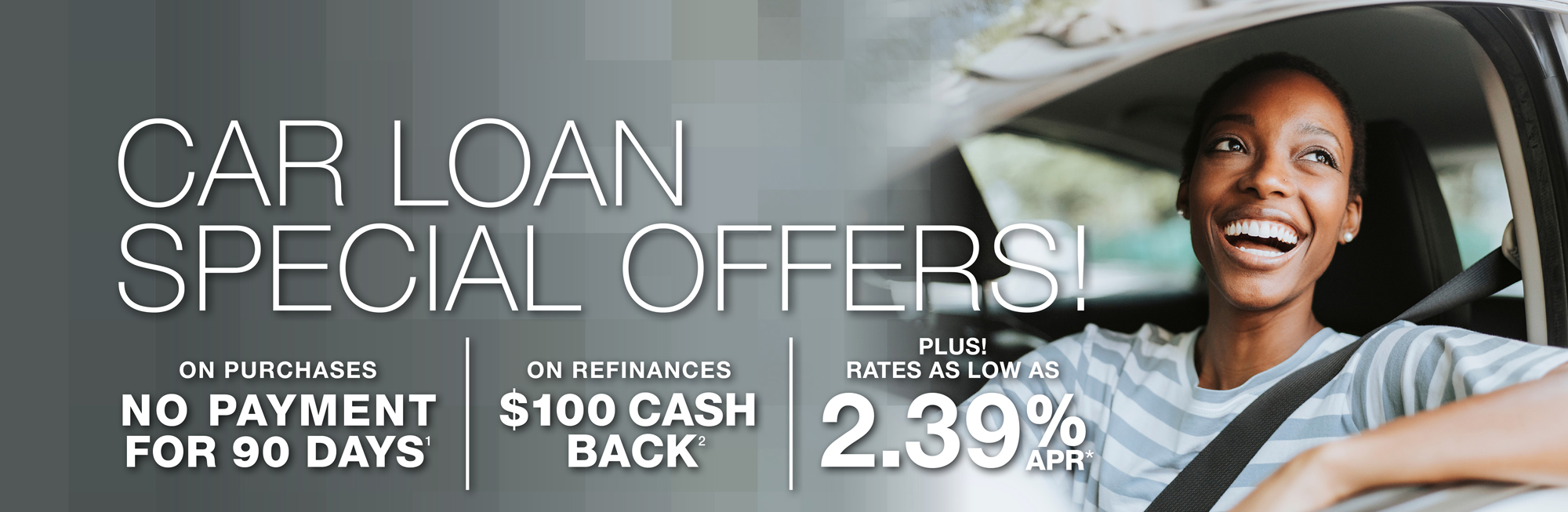 Car Loan Specials! Click to learn more.