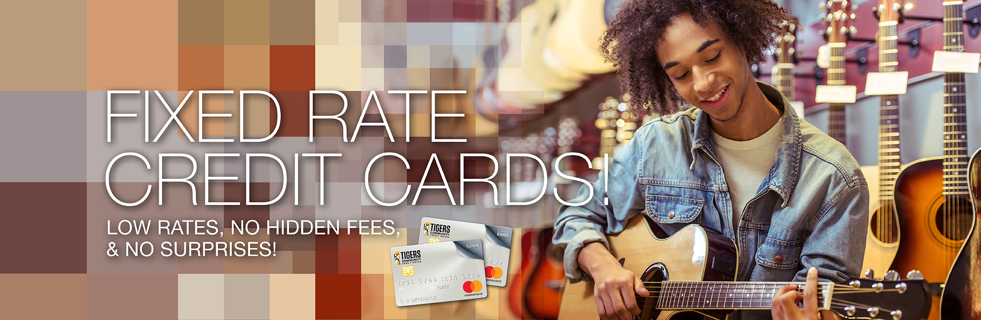 Fixed Rate Credit Cards with low rates, no hidden fees, and no surpises. Click to learn more.